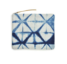 Load image into Gallery viewer, Shibori Zip Bag by Gray Green Goods