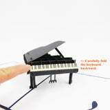 Grand Piano Pop Up Card