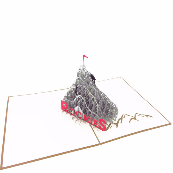 Mountain Climbing Pop Up Card