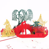 Asian Bridge Love Pop Up Card