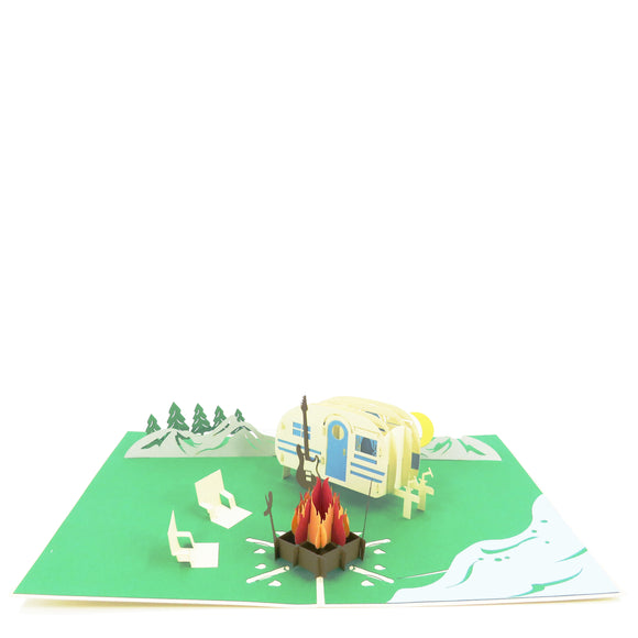 Camping Pop Up Card