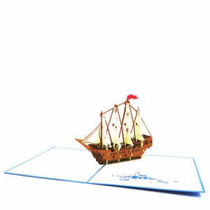 Ship Pop Up Card-style1
