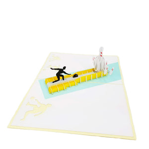 Bowling Pop Up Card