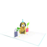 Happy Puppy Birthday Pop Up Card