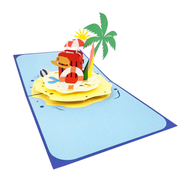 Beach Vacation Pop Up Card