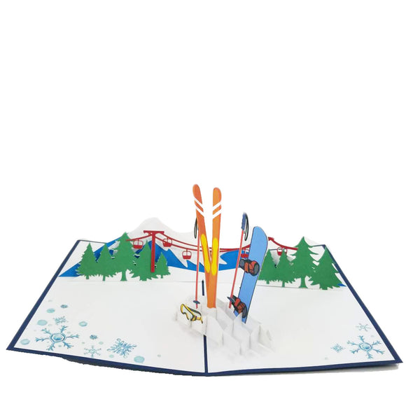 Snow Sports Pop Up card