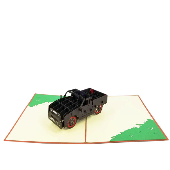Truck Pop Up Card-black