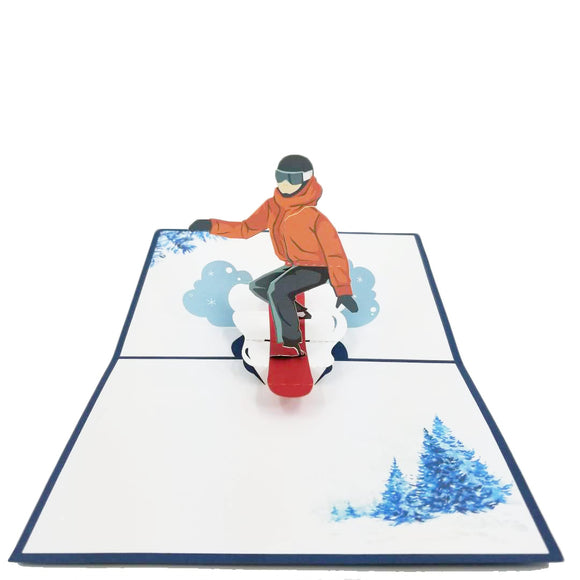 Snowboarding Pop Up Card