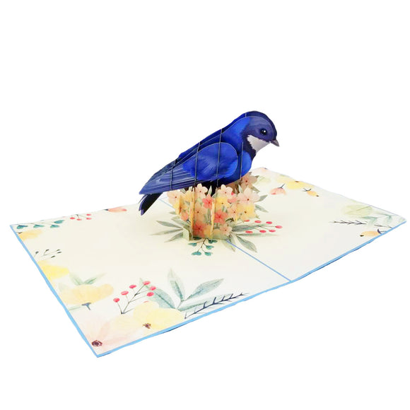 Blue Bird Pop Up Card
