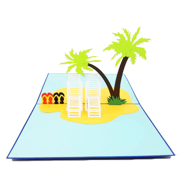 Beach Pop Up Card-Palm Tree