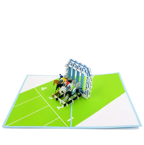 Horse Racing Pop Up Card-Lighter Color