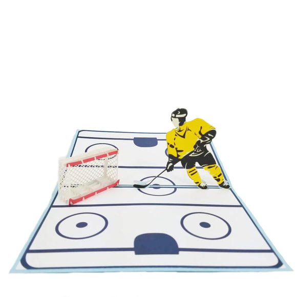 Hockey Game Pop Up Card