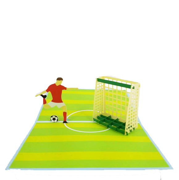 Soccer Game Pop Up Card-lighter color