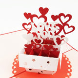 Love Gift Box Pop Up Card