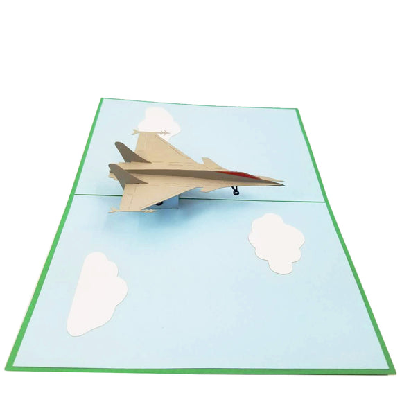 Fighter Jet Pop Up Card