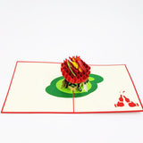Delicious BBQ Grill Pop Up Card
