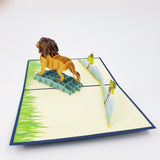 Lion Pop Up Card