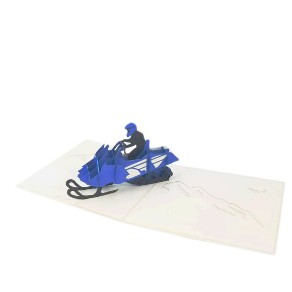 Snowmobile Pop Up Card