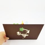 T-Rex Dinosaur Kids Pop Up Card