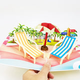 Beach Pop Up Card-Yellow