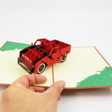 Truck Pop Up Card-red