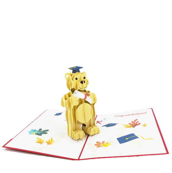 Grad Bear Pop Up Card