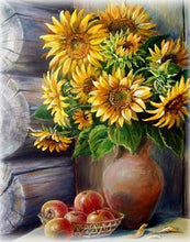 Load image into Gallery viewer, Sunflowers Cross-Stitch Kit