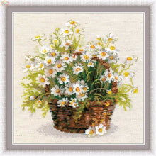 Load image into Gallery viewer, Lovely Daisy Basket Cross-Stitch Kit