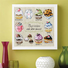 Load image into Gallery viewer, Cupcakes Cross-Stitch Kit