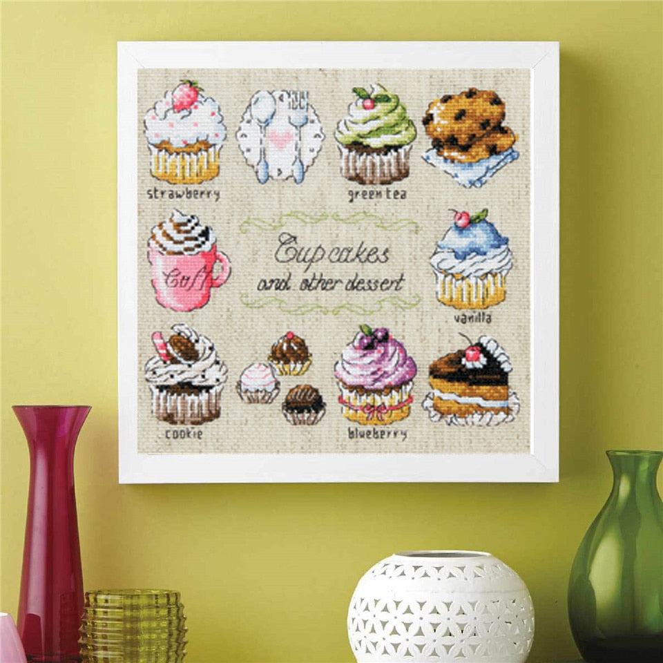 Cupcakes Cross-Stitch Kit