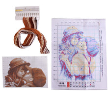 Load image into Gallery viewer, First Kiss Cross-Stitch Kit