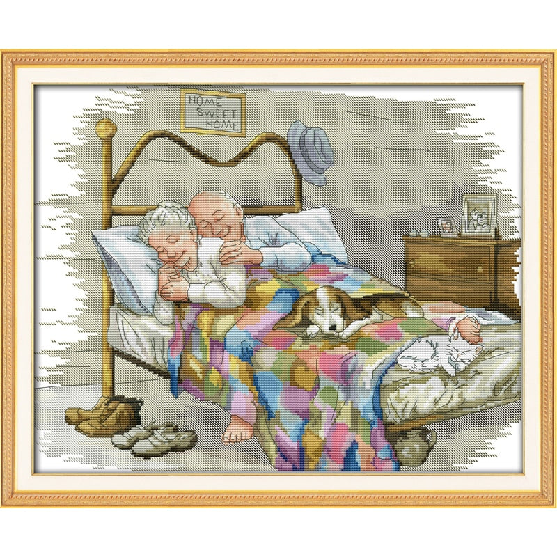The Old Married Couple Cross-Stitch Kit