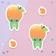 Strong Frog Peach Sticker Duo