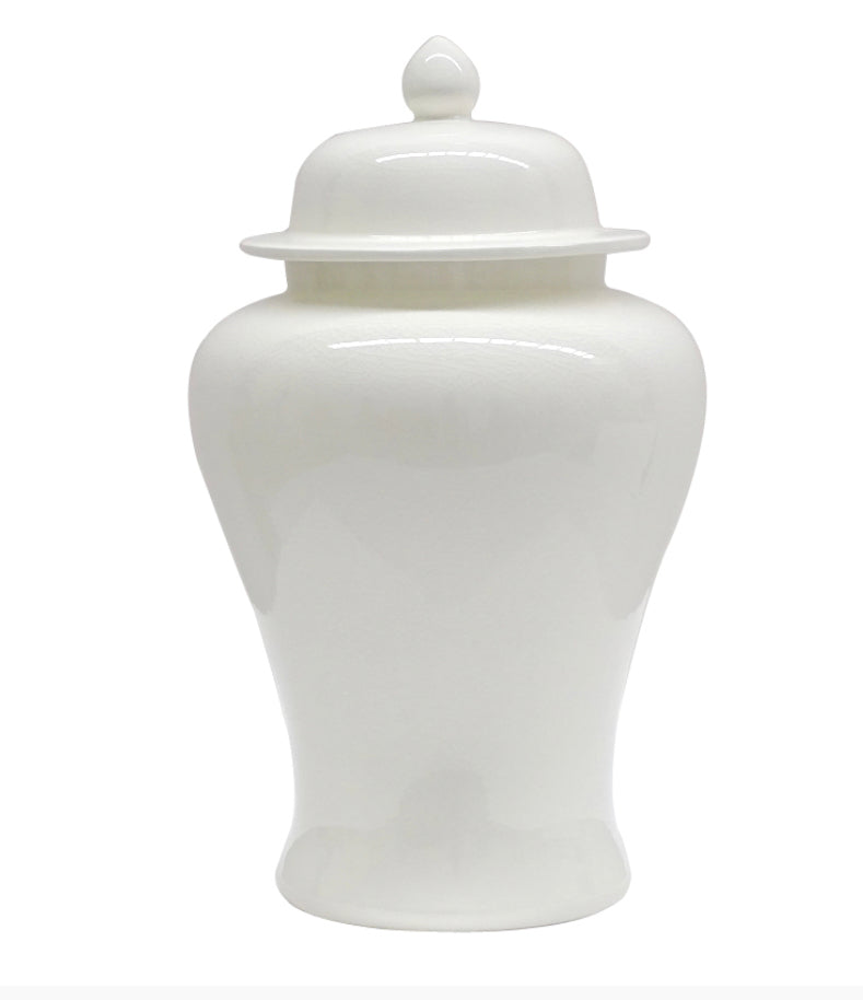 Stirling White Ginger Jar