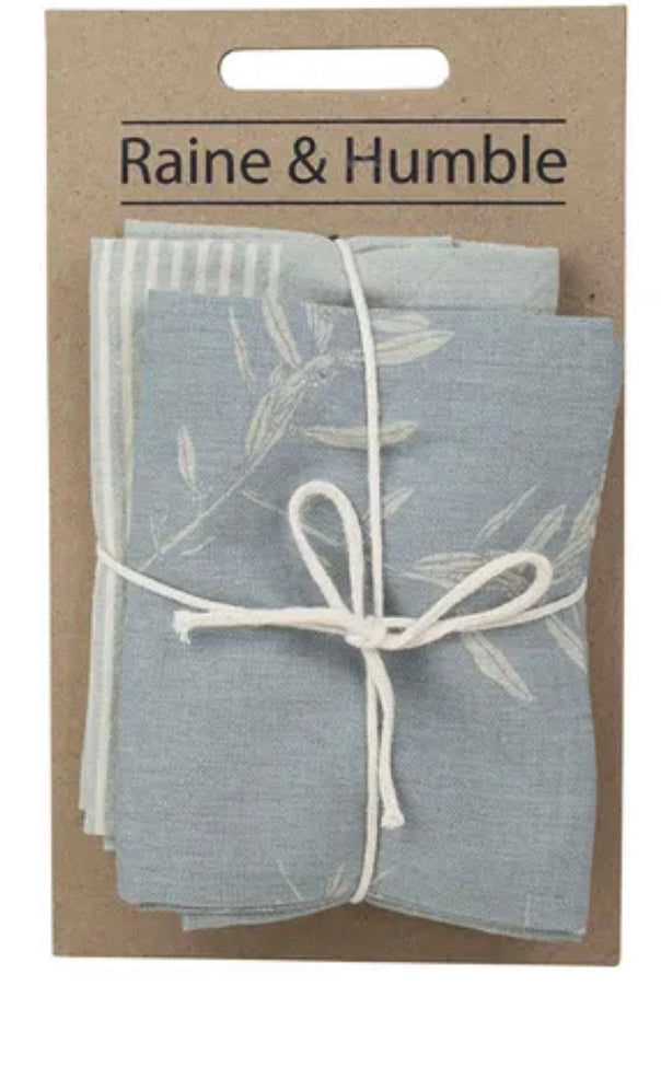 Olive Grove Tea Towel set of 2 in Blue