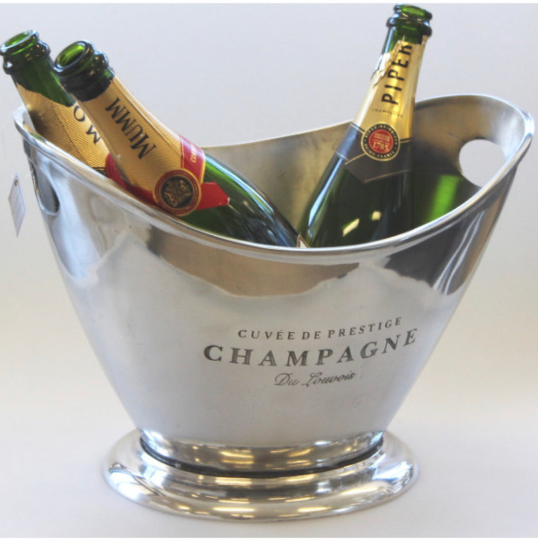 Champagne bucket in Silver