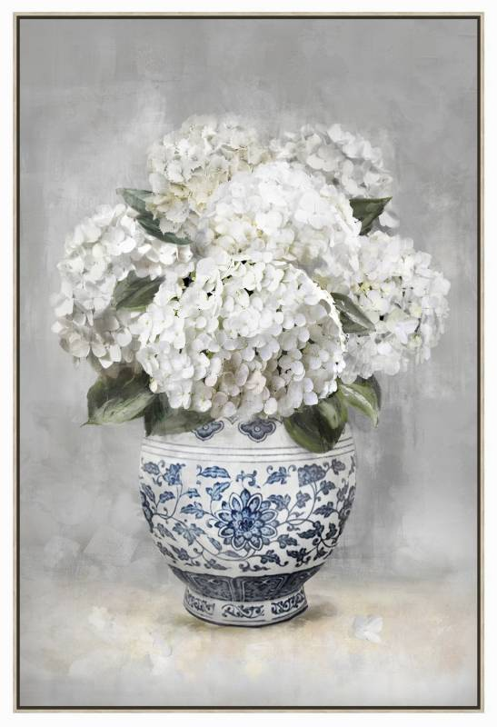 Hydrangeas on Canvas