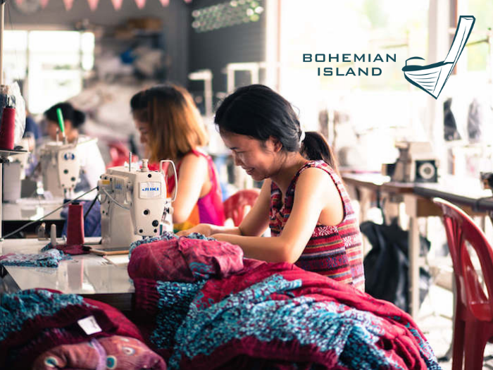 bohemian island's factory in Thailand. Behind the scenes of how we make our bohemian harem pants