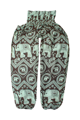 Green Tara Elephant Harem Pants