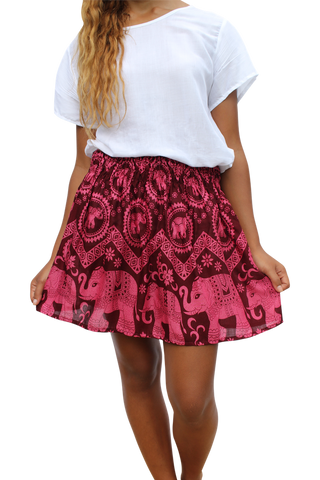 amitabha elephant short mini skirt bohemian island