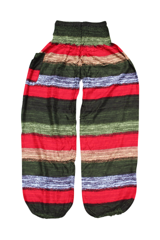 Autumn Stripes Harem Pants Bohemian Island