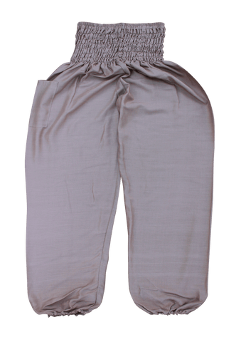 Beige Plain Harem Pants from Bohemian Island