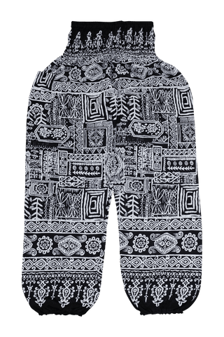 Black Aztec Harem Pants from Bohemian Island