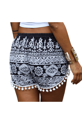 Black Aztec Shorts. Boho shorts from Bohemian Island