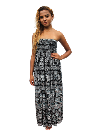 black elephant womens maxi dress bohemian island