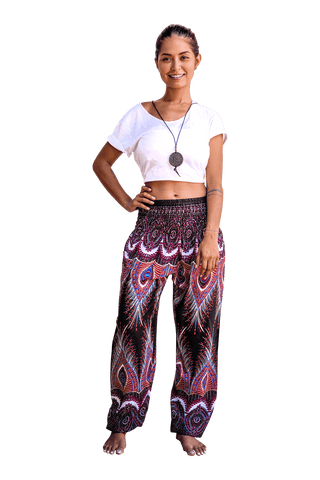 Black Flare Harem Pants from Bohemian Island