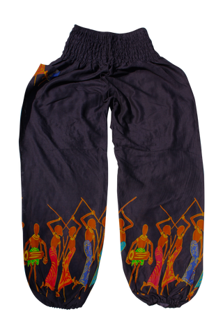 black tribal harem pants bohemian island