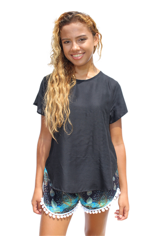 black womens cotton shirt bohemian island