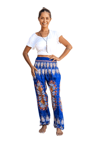 Blue Blossom Harem Pants from Bohemian Island's Spring 2019 Collection