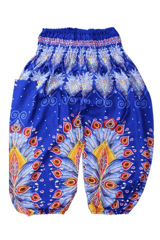 Blue Blossom Kids Harem Pants from Bohemian Island